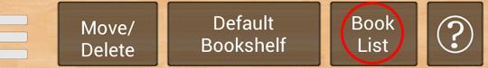 Above menu button