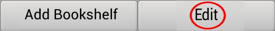 Bookshelf menu button